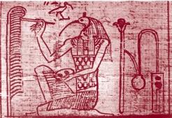 THOT-ecrit--Papyrus-Taouerit--21e-d--Leyde