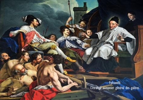 Folleville (Somme) - Eglise Saint-Jacques-le-Majeur-et-Saint-Jean-Baptiste - Saint Vincent de Paul prêchant aux galériens Copie du XIXe siècle du tableau (disparu) de Jean Restout (1732), d'après l'estampe de Bonnart et Antoine Hérisset (1737). Elle proviendrait elle aussi du collège lazariste de Montdidier. http://fr.wikipedia.org/wiki/%C3%89glise_Saint-Jacques-le-Majeur-et-Saint-Jean-Baptiste_de_Folleville